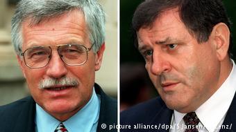 Οι πρώην πρωθυπουργοί της Τσεχίας Βάσλαβ Κλάους (αρ.) και της Σλοβακίας Βλάντιμιρ Μέτσιαρ.