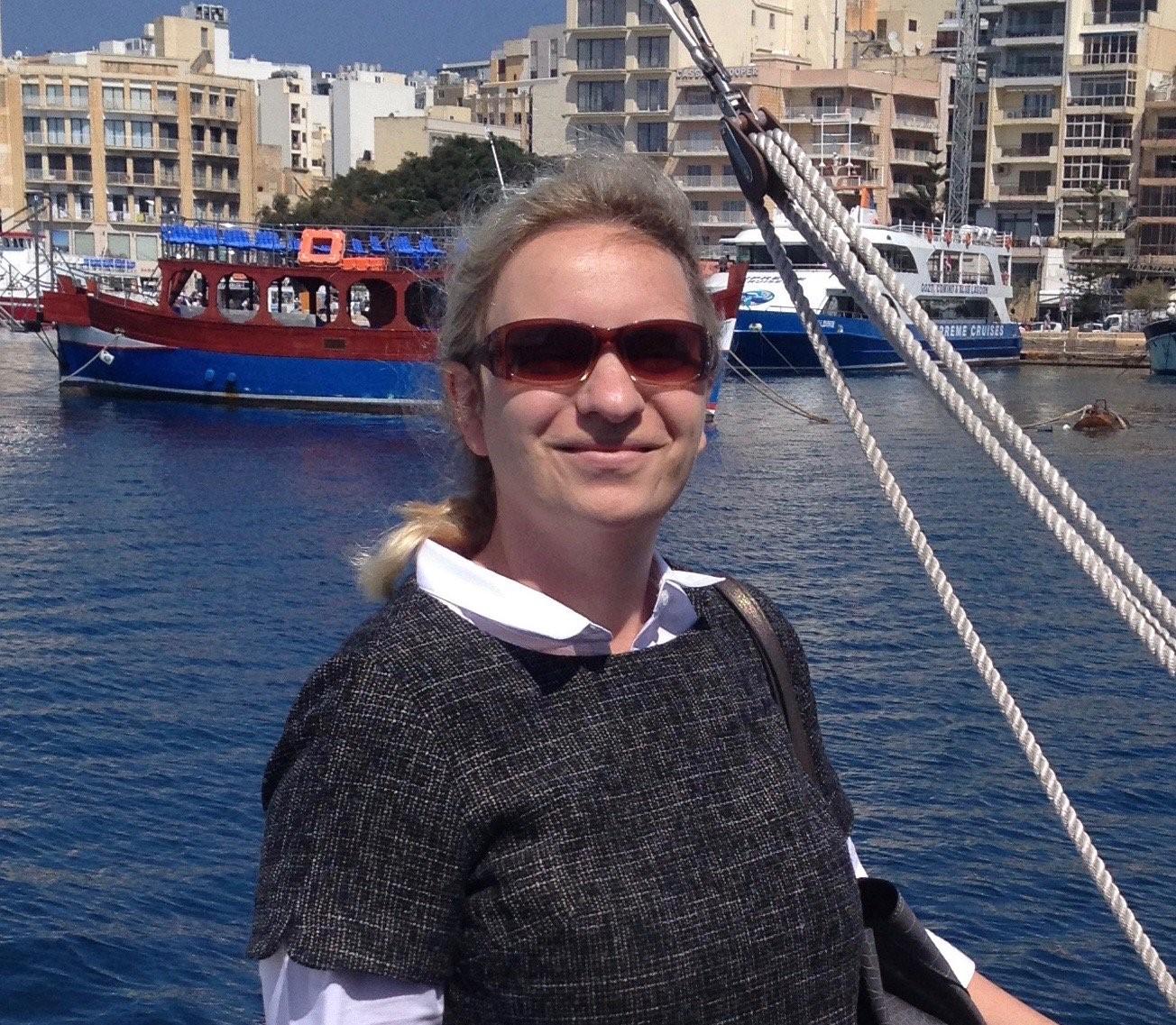 Η Μαρία Εφίμοβα στη Μάλτα.