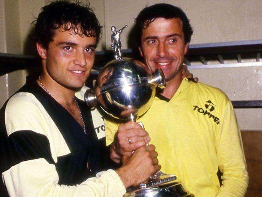 Με τον Aguirre μετά την κατάκτηση του Libertadores.