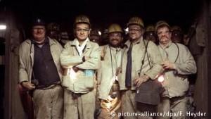 Κάποιοι από τους τελευταίους ανθρακωρύχους της περιοχής του Ρουρ...